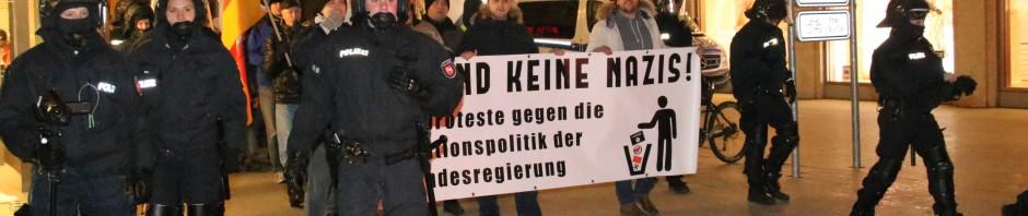 Polizei prügelt Pegida Hannover den Weg frei