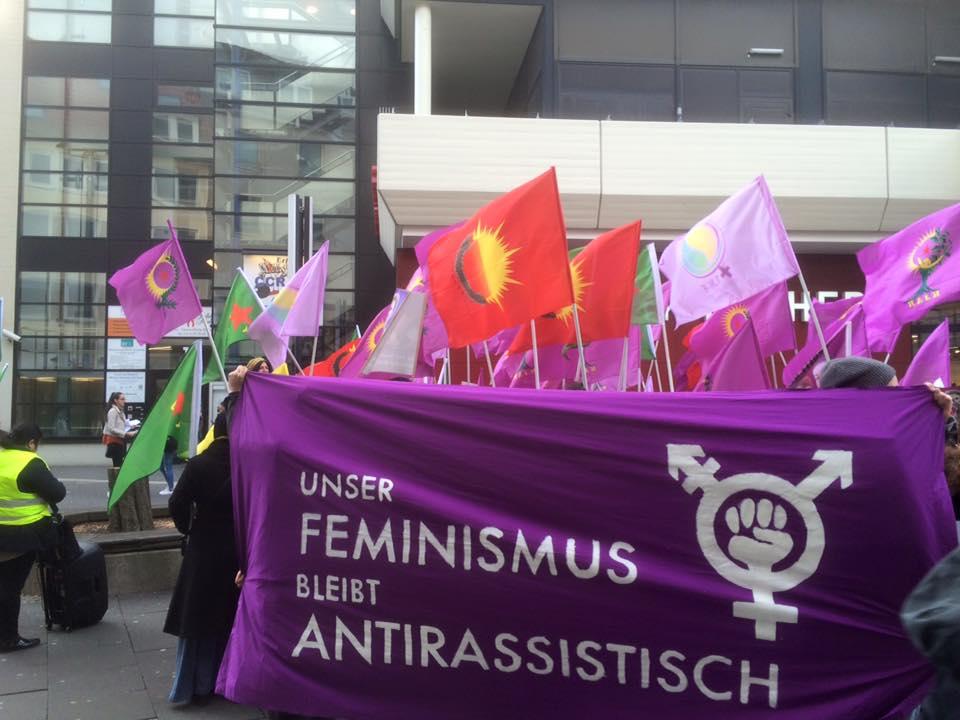 13. März 2016 Gegenprotest - Quelle: Aktionsnetzwerk gegen Rassismus Hildesheim