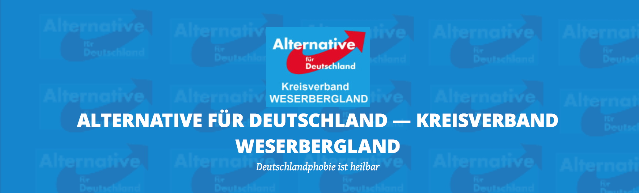 Screenshot: AfD Weserbergland