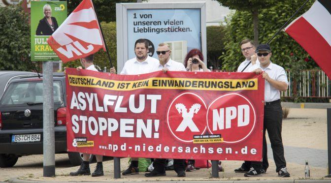 Kurzfristige Kundgebung der NPD-Jugend