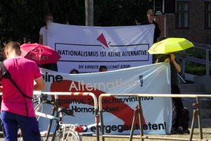 Protest in Sicht- und Hörweite zur AfD Veranstaltung