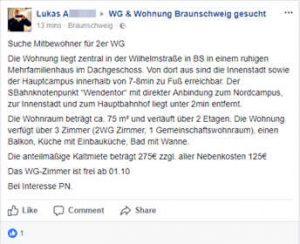 Braunschweiger Neonazi sucht Mitbewohner*in